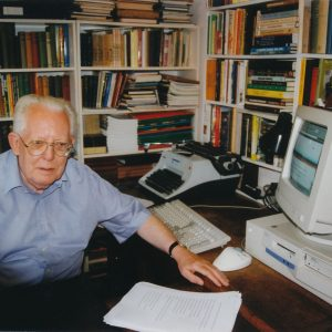 Tony Wales at desk