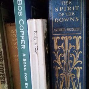 Sussex books on bookshelf