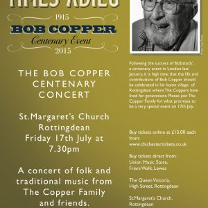 Bob Copper Centenary Concert Rottingdean Poster from Jon Dudley