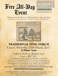 Traditional song forum flyer