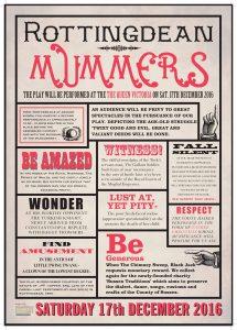 Rottingdean Mummers Poster